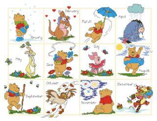 Cross Stitch Kits Disney Winnie the Pooh & Friends Calendar