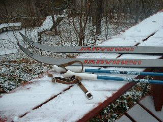 Jarvinen 190cm Cross Country Skis w Bindings Poles