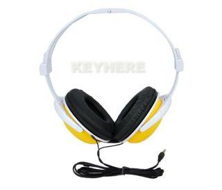 Yellow Smile Face Earphones Headphones Headset for Computer  PSP DJ