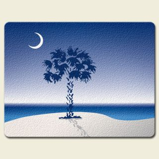 New Tempered Glass Cutting Board Large Palmetto Moon Water Palm Tree