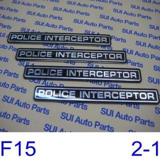 Ford Crown Victoria Vic Police Interceptor Emblem Factory New F15 3Z