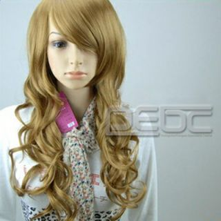 New Sexy Fashion Cosplay Party Wine Red Burgundy Long Hair Wave Curly