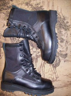 Bates Gortex Black Leather 8 Boots Military Police Womens 6 Youth 4 5