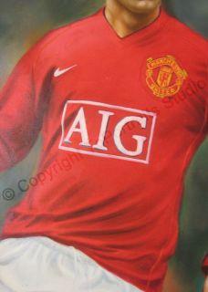 Cristiano Ronaldo Manchester United Original Soccer 36 x 24 Oil