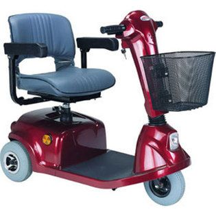 CTM HS 320 3 Wheel Econ Electric Mobility Scooter Red