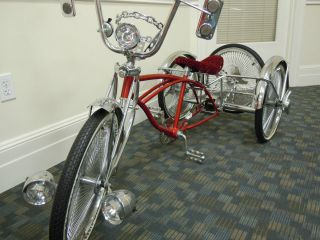 vintage custom made 4 wheel bike beach cruiser. Black Bedroom Furniture Sets. Home Design Ideas