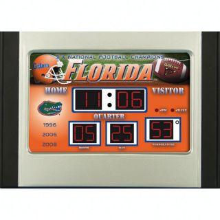 Officially licensed college sports scoreboard desktop alarm clock is