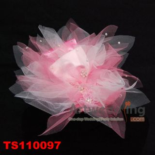 Satin Organza Floral Wedding Bridal Flowers Hair Pins Cheap