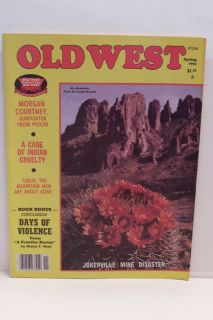 Old West Magazine Spring 1981 Morgan Courtney Gunfighte