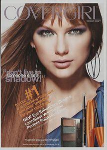 Taylor Swift CoverGirl Eye Shadow Advertisement 2012 Magazine Print Ad