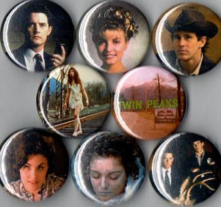 Twin Peaks 8 Pins Buttons Badges Laura Palmer Season 1