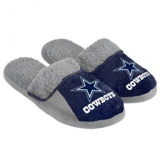 Dallas Cowboys NFL Soft Sherpa Team Logo Slippers 2012 New Hard Sole