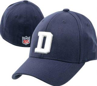 Dallas Cowboys Hat Small / Medium Flex Fit Navy Blue D Logo NFL