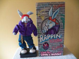 Rappin Rabbit New in Original Box Very Rare Singing & Dancing Rapping
