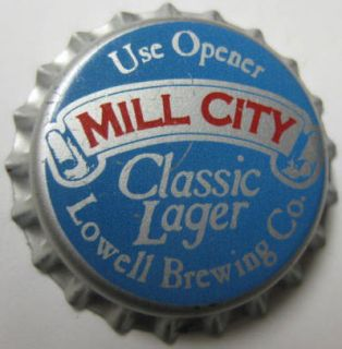 Mill City Classic Lager Beer Crown Unused Bottle Cap Lowell