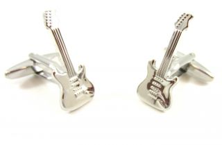 Excellent Electric Cool Guitar Rock Band Music Concert Cufflinks