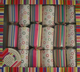 Holiday Traditional English Christmas Crackers Spots Stripes