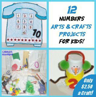 12 Kits Numbers Arts Crafts Kids Lots Preschool
