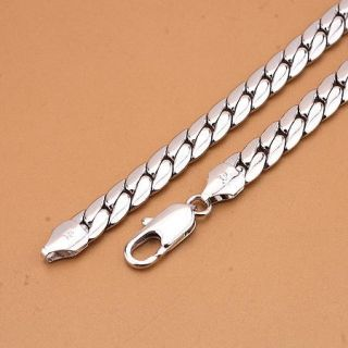 Dainty mens 18K White gold filled solid special necklace chain 2479g