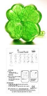 3d puzzle 42 pieces a four leaf clover crystal puzzles brand jeruel