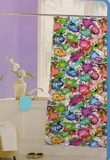 Crystal Bay Spatter Graphic Yellow Blue Pink Green Black VINYL SHOWER
