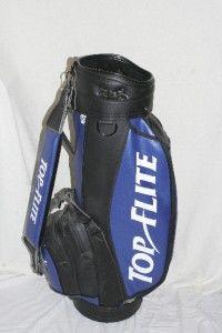 Top Flite Golf Bag Staff Cart Caddy Club Pro Signature Black Blue