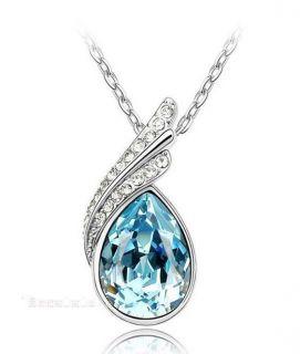 Fashion 18K GP Swarovski Crystal Necklace Pendant Options 5colour U
