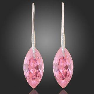 White Gold GP Swarovski Crystal Gorgeous Dangle Earrings E445