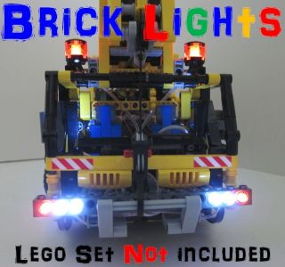 Lego Technic Brick Lights Pro Mobile Crane Truck 8421