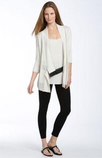 Eileen Fisher Silk Blend Open Cardigan, Leggings & Accessories