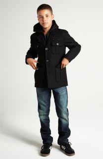 Black Rivet Military Jacket & Levis® Jeans (Big Boys)