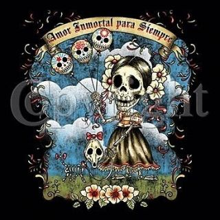 Amor Inmortal Para Siempre T Shirt Immortal love Forever Day Of The