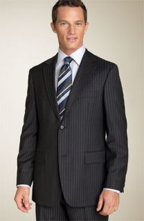 BOSS Black Pasolini Pinstripe Suit, Shirt & Tie
