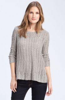 Theory Abeo   Granello Airy Cable Knit Sweater