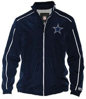NFL Dallas Cowboys Full Zip Jacket with Piping Detail Size 2X New w