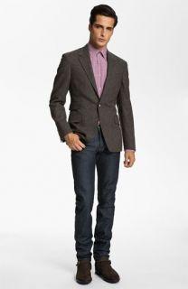 Paul Smith London Blazer, Dress Shirt & A.P.C. Slim Leg Jeans