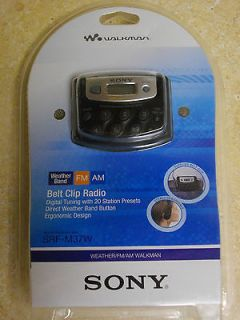 SONY SRF M37W WEATHER/FM/AM Belt Clip Radio WALKMAN BRAND NEW in
