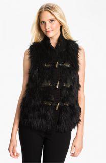 MICHAEL Michael Kors Faux Fur Front Sweater Vest