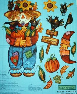 DAISY KINGDOM SCARECROW 100% COTTON FABRIC WALLHANGING PANEL