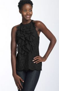 ECI Ruffle Front Halter Top