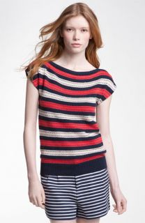 MARC BY MARC JACOBS Kay Stripe Cap Sleeve Sweater