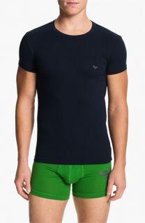 Emporio Armani Eagle Stretch Cotton Crewneck T Shirt