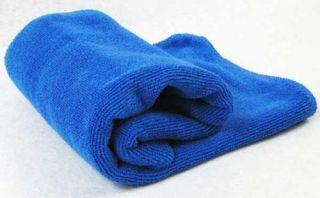 blue car wipe cloth wash cleaning towel micro fibre 30x70cm blue car