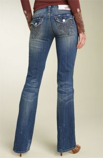 MEK Denim Grand Island Flap Pocket Bootcut Stretch Jeans (Medium Blue Wash)