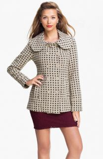 Tulle Polka Dot Double Breasted Coat (Juniors)
