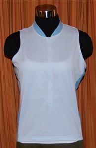 Cannondale Light Blue Sleeveless Biking Cycling Jersey Shirt Womens