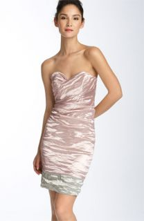 Nicole Miller Metallic Crinkled Sheath Dress