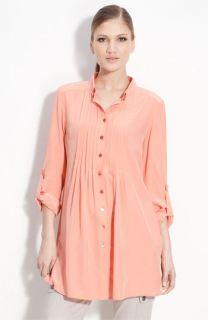 St. John Yellow Label Silk Tunic Blouse