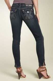 MEK Island Harbor Cigarette Leg Stretch Jeans (Dark Blue Wash)