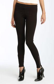 Joes Jeans Side Zip Hem Stretch Denim Leggings (Black Wash)